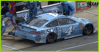 Flying lug nut costs Harvick on pit road