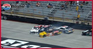 Big wreck hits early in Bristol Xfinity Series race