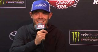 Larson: 'I love getting beat by Kyle Busch'