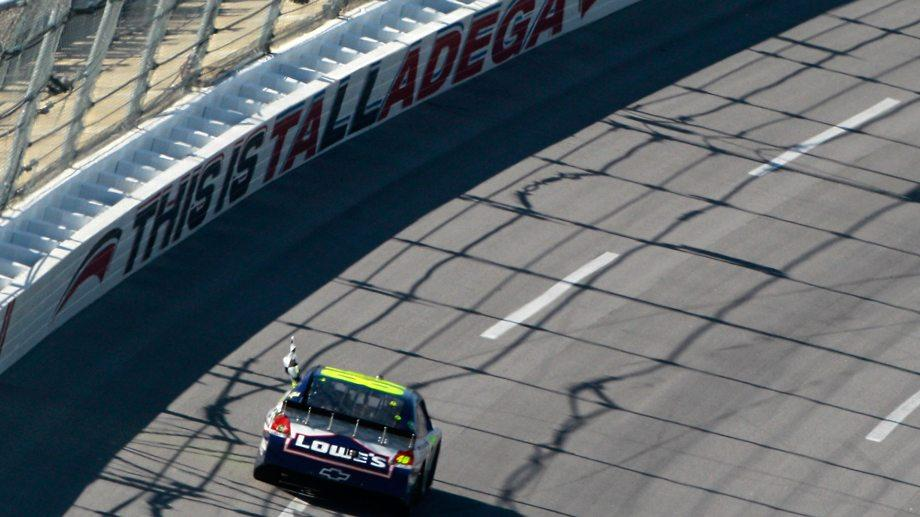 What a finish! Watch Jimmie Johnson clinch a 2011 Talladega win