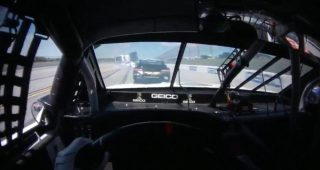 Driver view: Ty Dillon goes for a ride in Talladega wreck