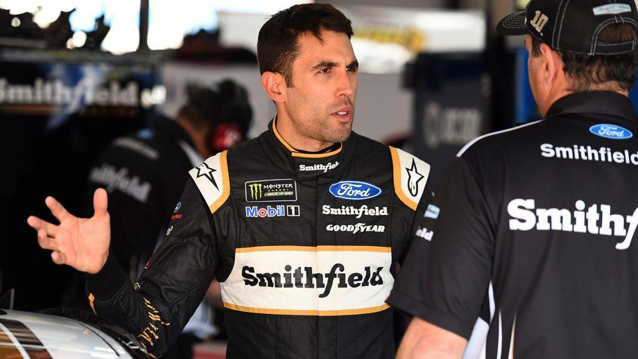 Watch why Aric Almirola will start from the back at Talladega