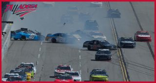 Multi-car wreck collects several drivers on backstretch at Talladega