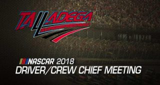 Go inside the Talladega driver and crew chief meeting