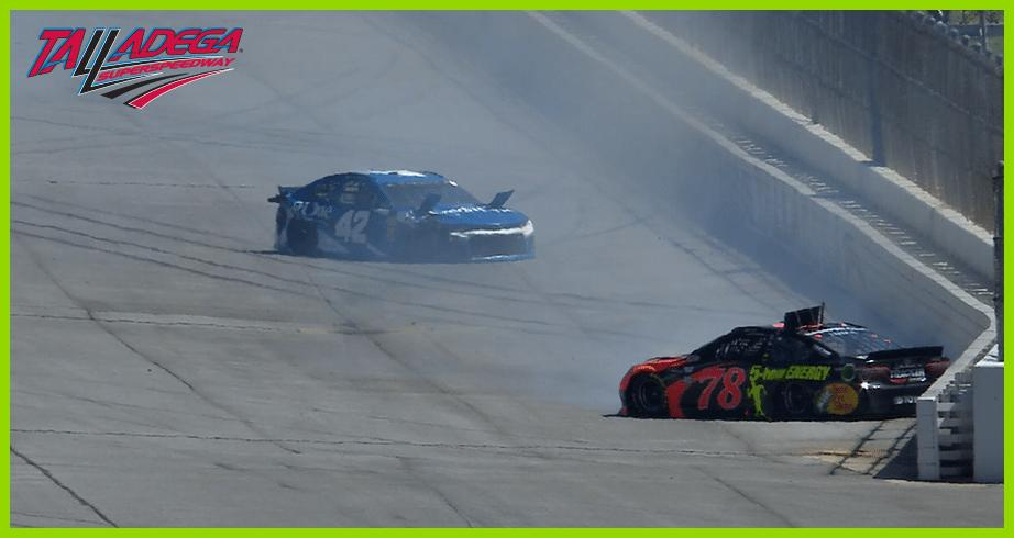 Larson, Truex Jr. involved in Talladega wreck