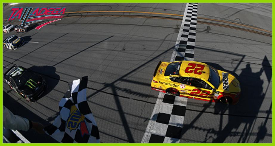 Joey Logano holds off hard charging Busch, Stenhouse Jr. for Talladega win