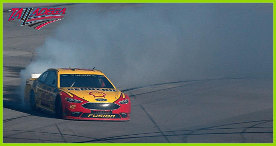 Logano burns it down 'Bama style