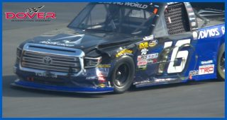 Friesen, Moffitt collide on Lap 1 of Dover Truck Series race
