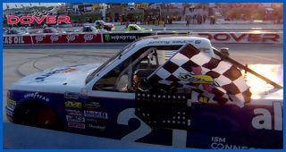 Sauter conquers Dover in overtime as Gragson crashes in final laps
