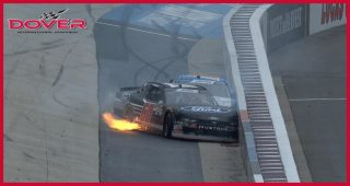 Ty Majeski goes for ride, wrecks with Dylan Lupton