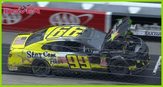 Derrike Cope spins, wrecks in Dover to end day