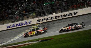 From the vault: Gordon edges Harvick at Kansas in 2014
