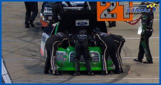 Rhodes' truck sputters to pit road at Kansas