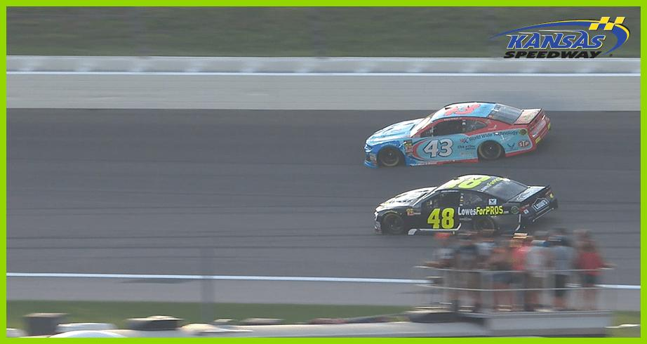 Bubba Wallace has close call at Kansas