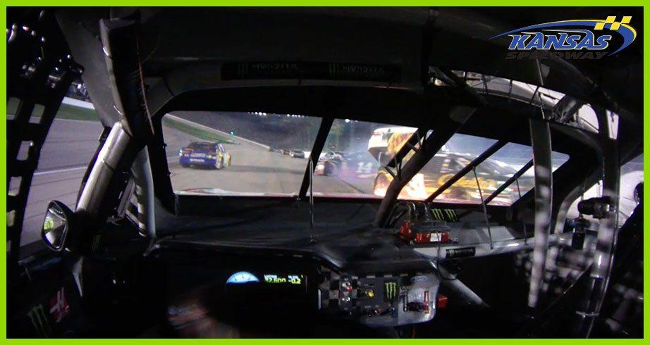 Watch Byron's wreck through Busch's helmet cam