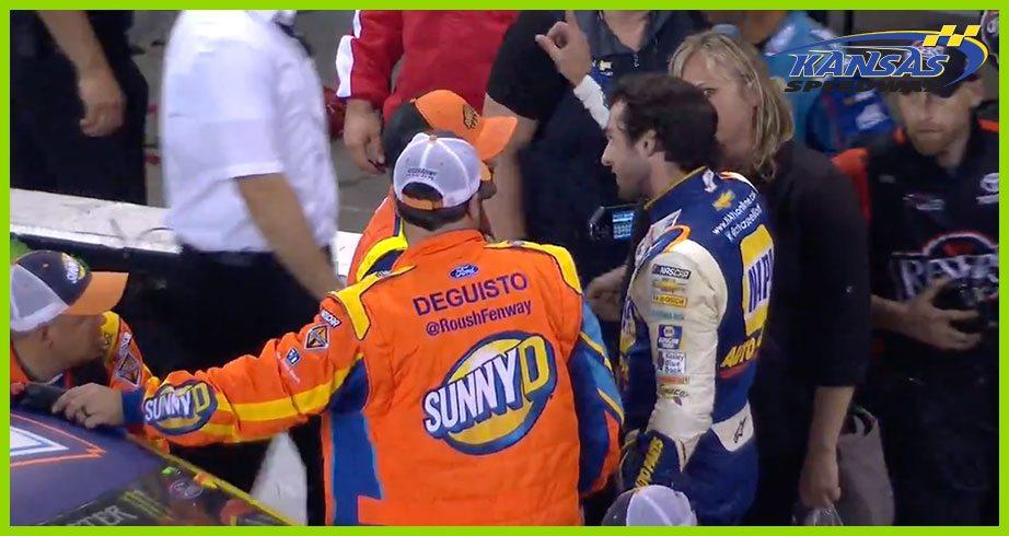 Elliott, Stenhouse Jr. trade bumps and barbs post-Kansas