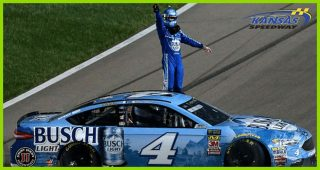 Harvick burns it down after fifth victory