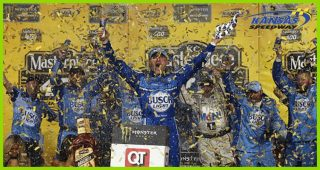 Harvick takes Busch Light to Kansas Victory Lane