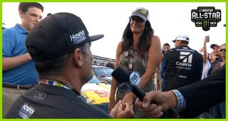 Jimmie Johnson takes part in proposal at All-Star Race