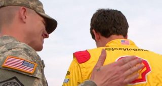 Joey Logano: 'Our military is the reason why we race'