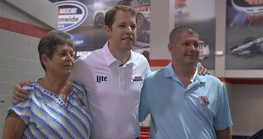 NASCAR Salutes: Keselowski meets with Eckard family