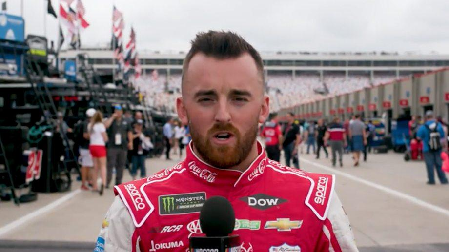 Austin Dillon thanks military servicemembers as NASCAR Salutes gets underway