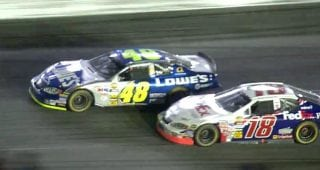 Last-lap pass! Johnson wins 2005 Coca-Cola 600