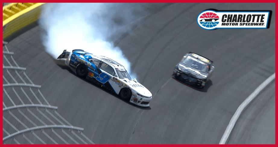 Reddick crashes in final stage at Charlotte
