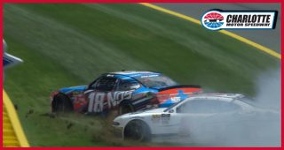 Busch rides through grass, tangles with Briscoe