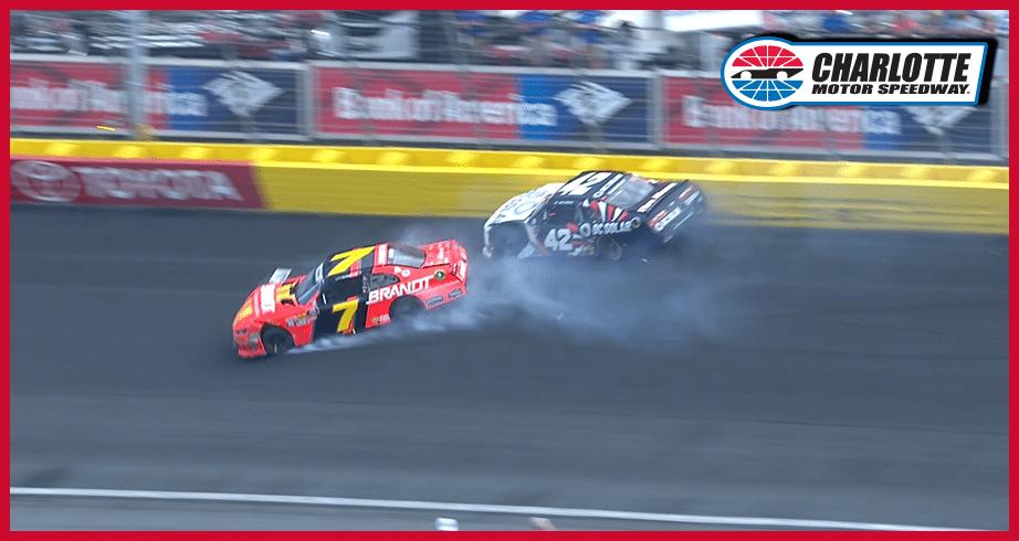 Allgaier, McMurray crash hard in Charlotte Xfinity race