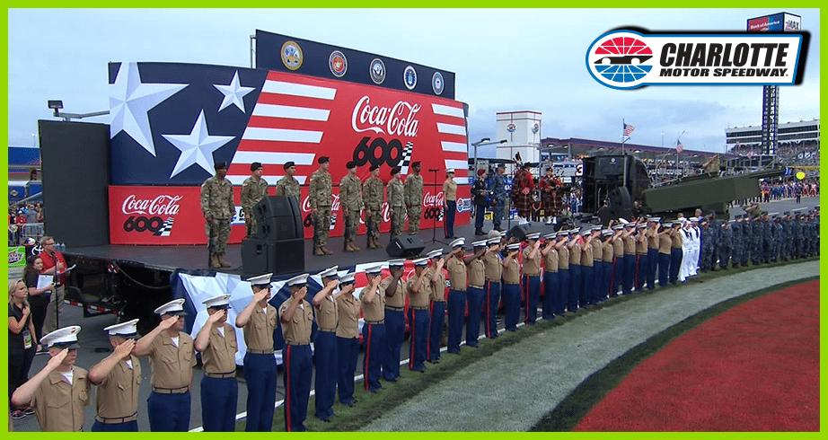 Military honored in moving pre-race ceremonies for Coca-Cola 600
