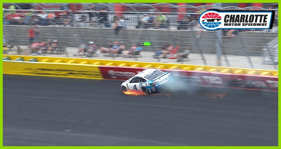 Kevin Harvick's early drive derailed by cut tire