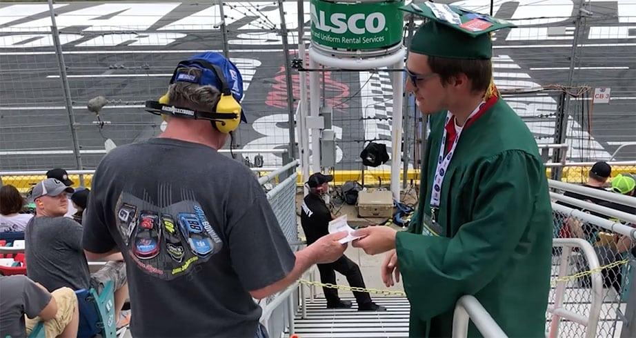 Elijah Burke 'Graduation Kid' Vlogs his NASCAR experience