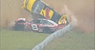 From the Vault: Dale Jr., Steve Park collide in scary 2002 Pocono wreck