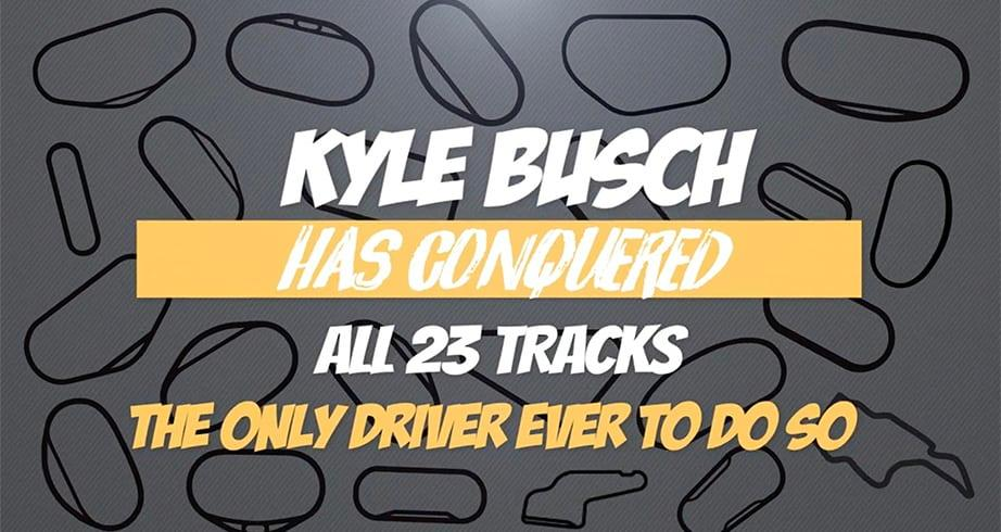 Kyle Busch's winning timeline after making history