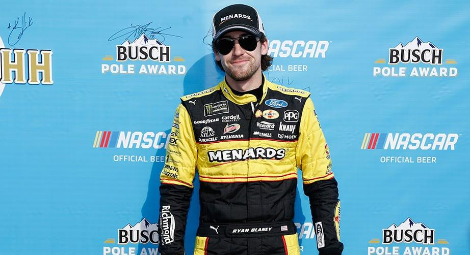 Blaney breaks down Pocono Busch Pole Award-winning run
