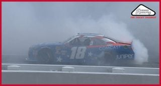 Busch puts on a smoke show in Pocono