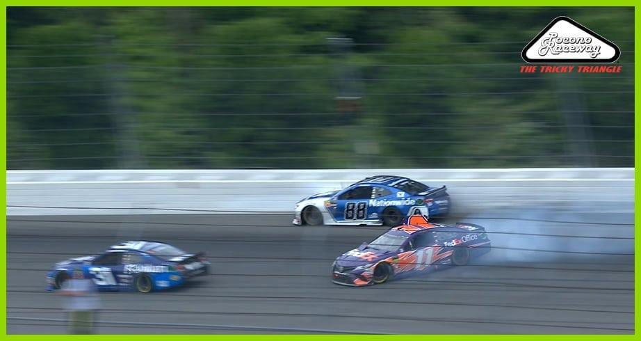 Hamlin collides with Bowman in Pocono crash