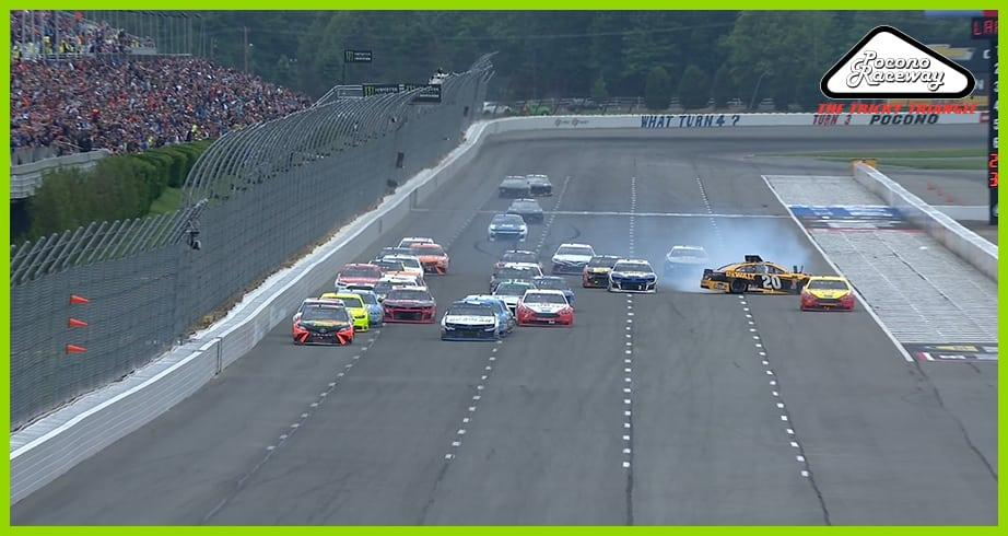 Logano spins Jones during late restart