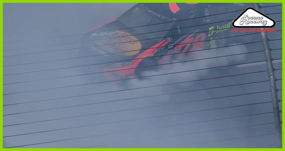Truex Jr.'s monster Pocono burnout