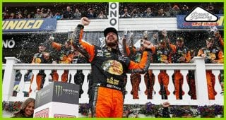 Martin Truex Jr. celebrates second win of 2018