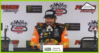 Truex Jr. on competing with Busch and Harvick