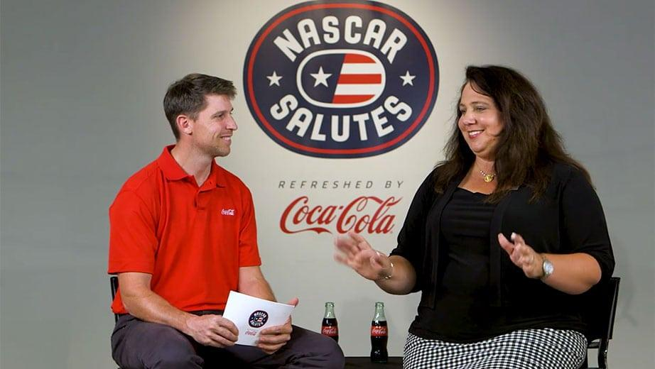 NASCAR Salutes: Denny Hamlin helps honor military spouse