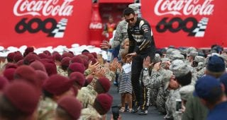 Almirola gives a NASCAR salute to troops in Chicago