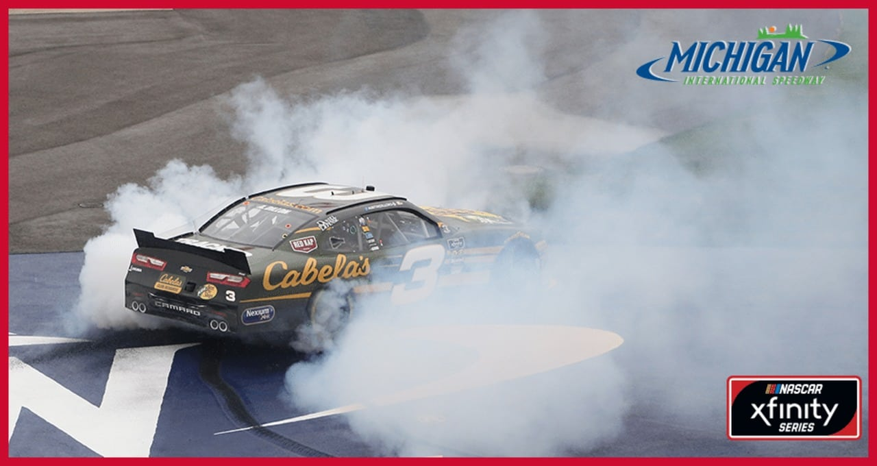 Three cheers for Dillon! Check out the winning burnout