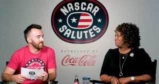Austin Dillon interviews military spouse Shelia Brookins