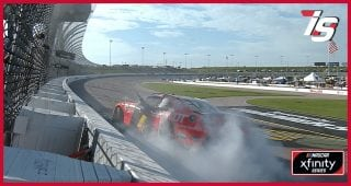 Allgaier burns it down past the cornfields