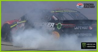 Truex Jr. burns it down in wine country