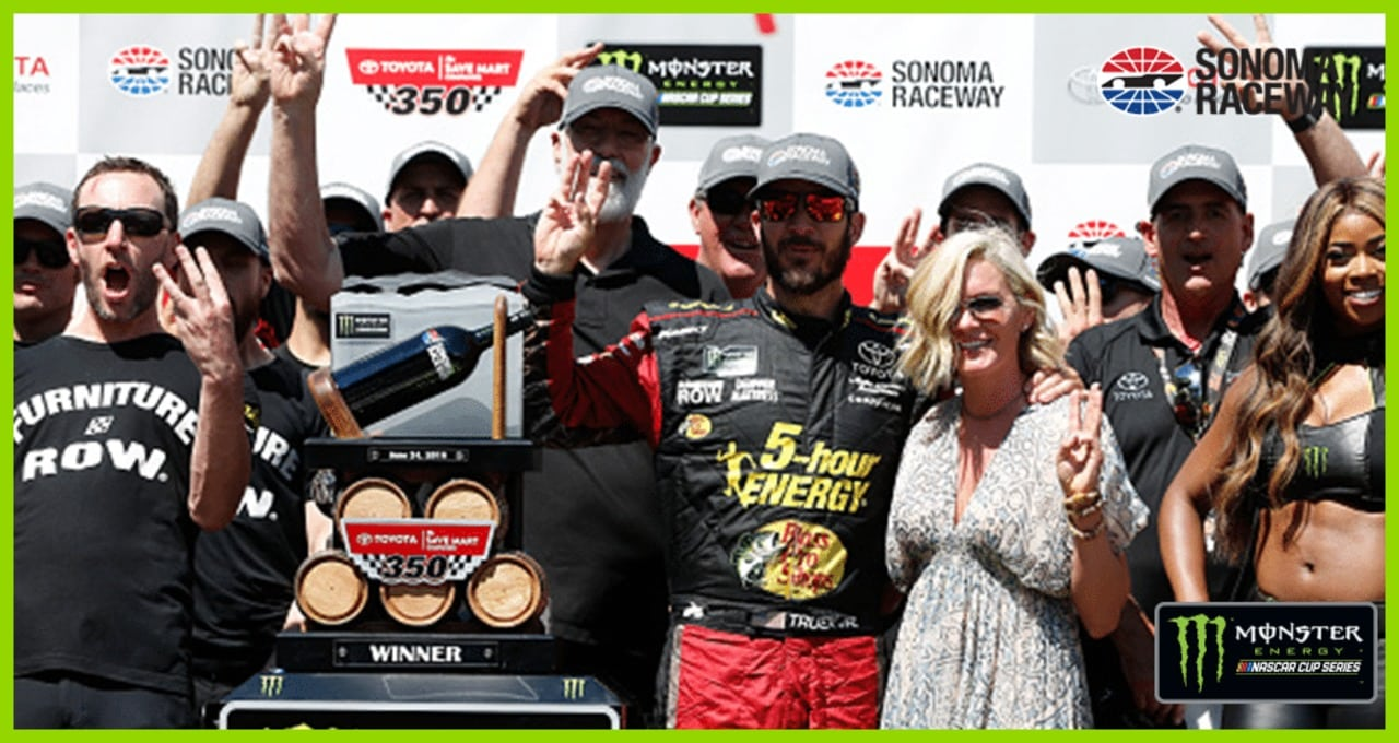 Race recap: Martin Truex Jr. spills the wine, takes the win in Sonoma