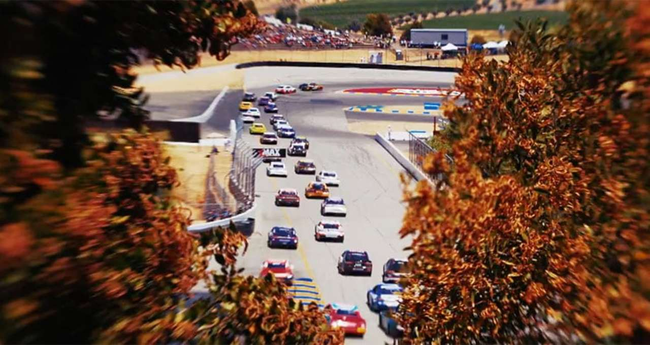 Watch 'miniature' Sonoma Raceway come alive with tilt-shift photography